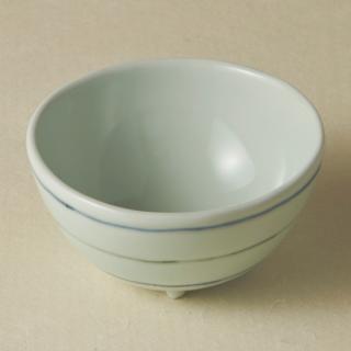 足付コロコロ鉢(小)/ボーダー<br>bowl with legs