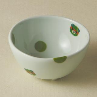 足付コロコロ鉢(小)/ダークミキャン<br>bowl with legs