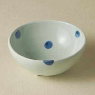 足付コロコロ鉢(大)/水玉<br>bowl with legs