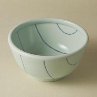 丼鉢(大)/ボーダー<br>large bowl