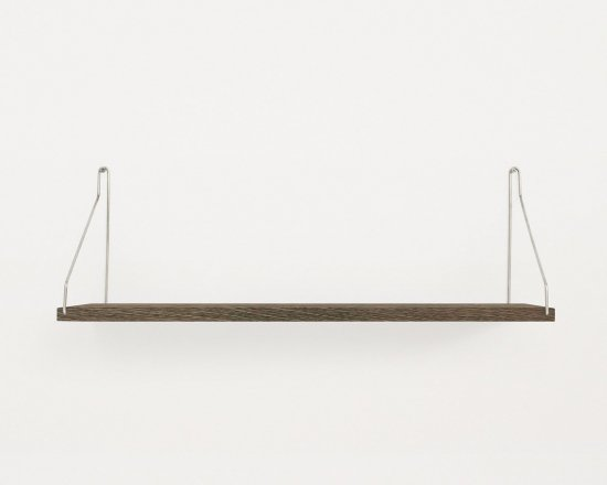 Shelf Dark D20 W80 | Steel Brackets