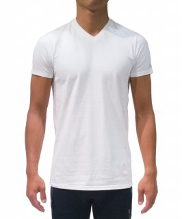 Men's Cotton Blend Comfy S/S Tee(V neck)
