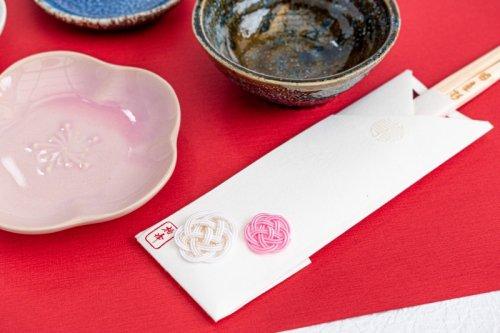 水引飾りの祝い箸 / 梅(5本セット箱入)
