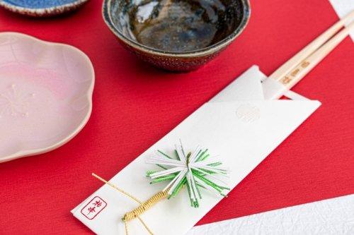 水引飾りの祝箸 /松(5本セット箱入)