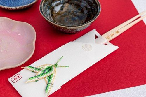 水引飾りの祝箸 /竹(5本セット箱入)