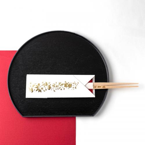 フリソデ箸袋 /ゴールド(5本セット)