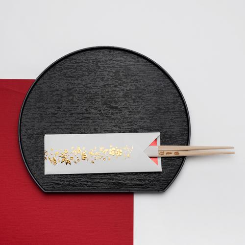 フリソデ箸袋 /濃ゴールド(5本セット)