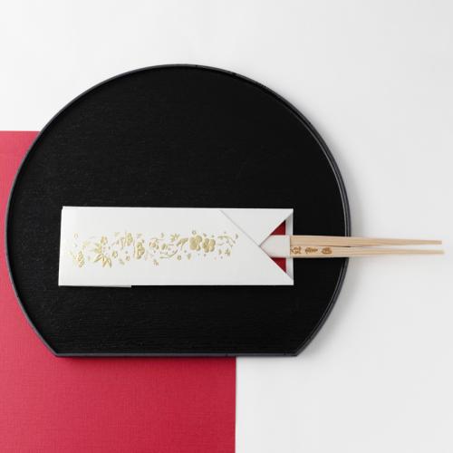 フリソデ箸袋 /マットゴールド(5本セット)
