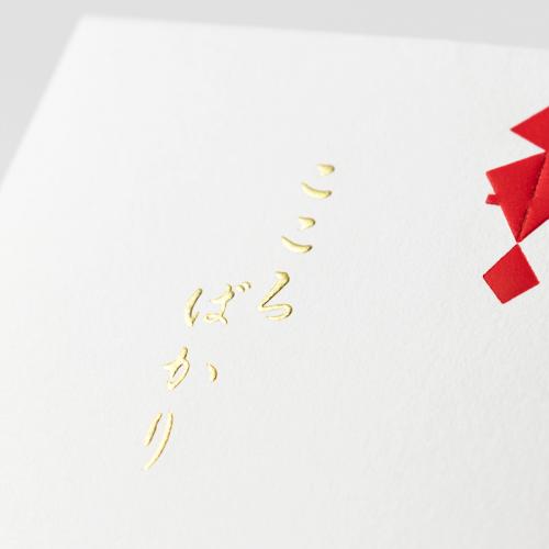 封筒型のし袋 / 宝のし-濃い赤-