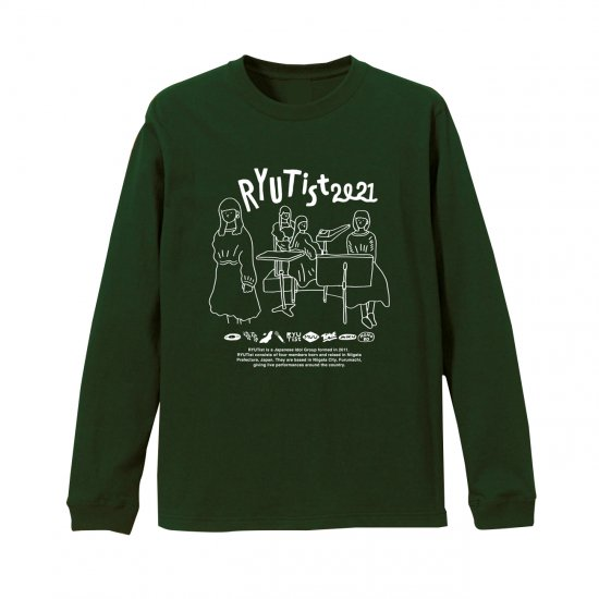 RYUTist 2021 L/S TEE (FORESTGREEN or WHITE or BLACK)