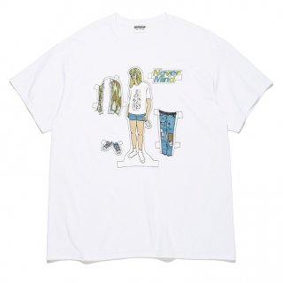 "【BOWWOW/バウワウ】""NEVER MIND DRESS UP"" TEE (WHITE)"