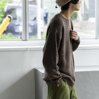 """<img class='new_mark_img1' src='https://img.shop-pro.jp/img/new/icons13.gif' style='border:none;display:inline;margin:0px;padding:0px;width:auto;' />alvana YAK WOOL PO KNIT """"TOP BROWN""""[トップブラウン]"""