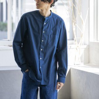 """<img class='new_mark_img1' src='https://img.shop-pro.jp/img/new/icons13.gif' style='border:none;display:inline;margin:0px;padding:0px;width:auto;' />MANUAL ALPHABET LOOSE FIT BAND COLLAR SHIRT """"DK.BLUE""""[ダークブルー]"""