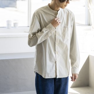 """<img class='new_mark_img1' src='https://img.shop-pro.jp/img/new/icons50.gif' style='border:none;display:inline;margin:0px;padding:0px;width:auto;' />MANUAL ALPHABET LOOSE FIT BAND COLLAR SHIRT """"ECRU""""[エクリュ]"""