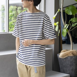 """<img class='new_mark_img1' src='https://img.shop-pro.jp/img/new/icons13.gif' style='border:none;display:inline;margin:0px;padding:0px;width:auto;' />SAINT JAMES OUESSANT SHORT SLEEVE """"ECRU/MARINE""""[生成り/マリン]"""