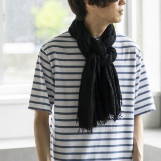 """<img class='new_mark_img1' src='https://img.shop-pro.jp/img/new/icons13.gif' style='border:none;display:inline;margin:0px;padding:0px;width:auto;' />Suno&Morrison Amami Natural Dyed Stole """"Mud Black""""[泥染]"""