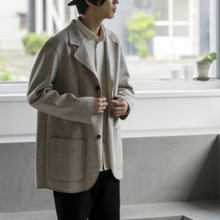 """<img class='new_mark_img1' src='https://img.shop-pro.jp/img/new/icons13.gif' style='border:none;display:inline;margin:0px;padding:0px;width:auto;' />Cale NATURAL WOOL FELT JACKET """"GREY""""[グレー]"""