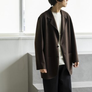 """<img class='new_mark_img1' src='https://img.shop-pro.jp/img/new/icons13.gif' style='border:none;display:inline;margin:0px;padding:0px;width:auto;' />Cale NATURAL WOOL FELT JACKET """"BROWN""""[ブラウン]"""