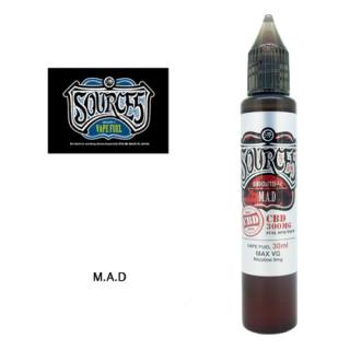 SOURCE5 / FULL SPECTRUM CBD 1.0% ELIQUID - M.A.D