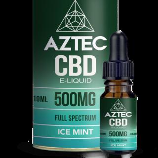 AZTEC / FULL SPECTRUM CBD 5% ELIQUID 10ml / 500mg - ICE MINT