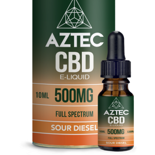 AZTEC /FULL SPECTRUM CBD 5% ELIQUID 10ml / 500mg - SOUR DIESEL