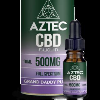 AZTEC / FULL SPECTRUM CBD 5% ELIQUID 10ml / 500mg - GRAND DADDY PURPLE