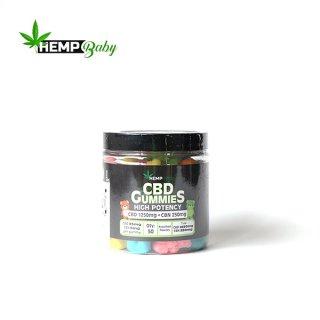 HEMP BABY / CBD GUMMIES (50pcs) - CBD 1250mg,CBN 250mg