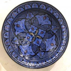 モロッコ 絵皿  ブルー S/M/L/XL