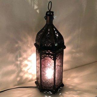 モロッコ ランプ  プチ/ボルドー