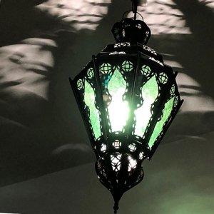 モロッコランプ  ルピナスM/グリーン