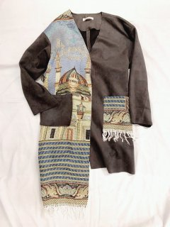 newment vintage light Arabian rug  jacket No.26