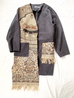 newment vintage light Arabian rug  jacket No.23