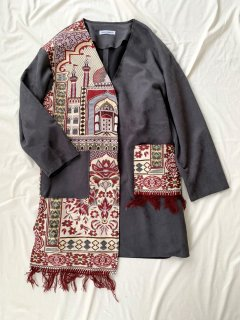 newment vintage light Arabian rug  jacket No.21
