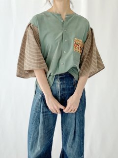 newment  euro enbroidery pocket blouse No.18