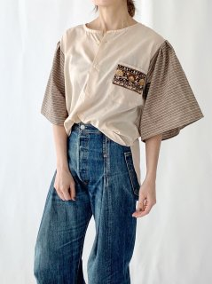 newment  euro enbroidery pocket blouse No.17