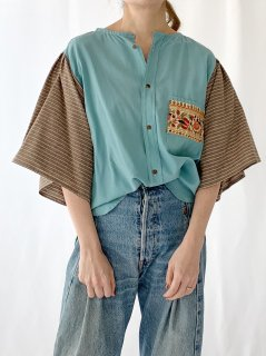 newment  euro enbroidery pocket blouse No.9