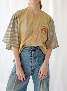 newment  euro enbroidery pocket blouse No.7