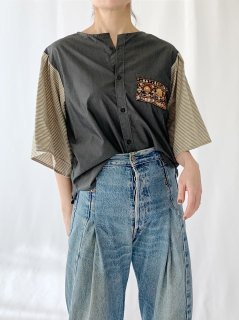 newment  euro enbroidery pocket blouse No.4