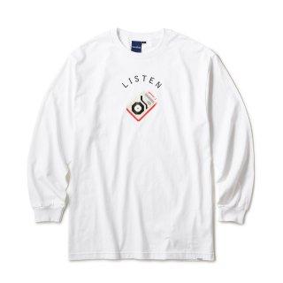 8bit GR LS Tee / White