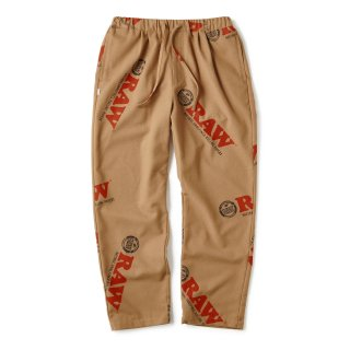 "RAW × INTERBREED ""Logo Textile Trouser"" / Lt Brown"