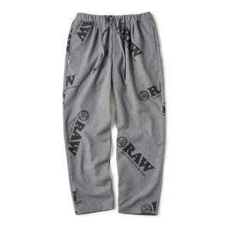 "RAW × INTERBREED ""Logo Textile Trouser"" / Cool Grey"