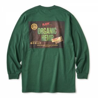 "RAW × INTERBREED ""RAW Organic LS Tee"" / Forest Green"
