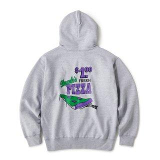 Skunk's Pizza Zip Hoodie / Heather Grey