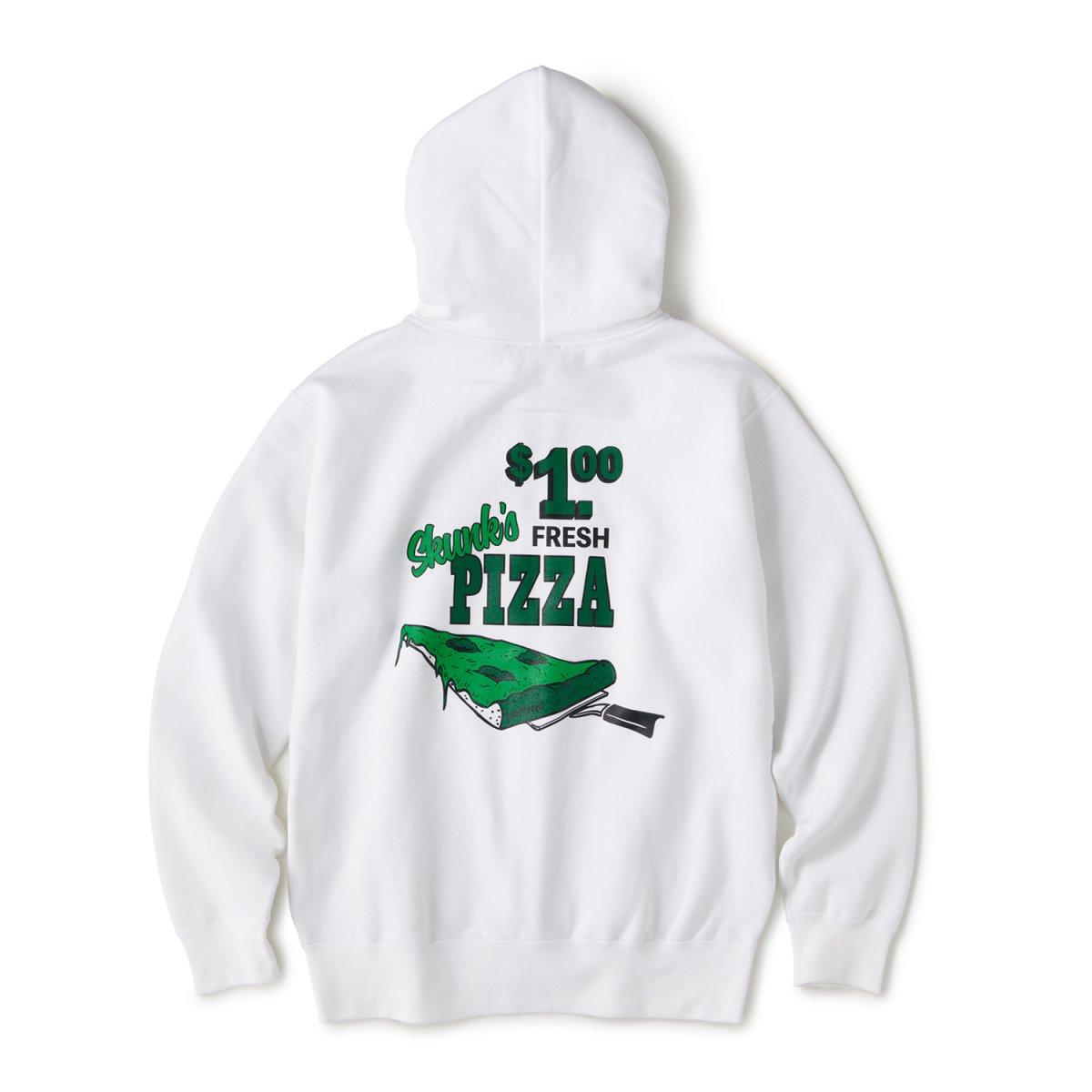 Pizza Zip Hoodie / White