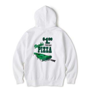 Skunk's Pizza Zip Hoodie / White