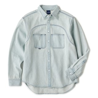 Washed Indigo Shirt / Ice Wash
