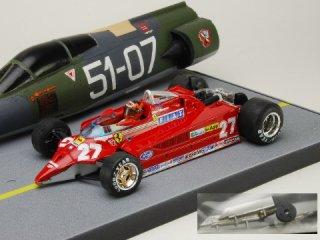 1/43 フェラーリ 126CK ターボ VS F104 スターファイター 1981 #27 G.ヴィルヌーブ フィギュア付<br>