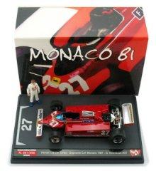1/43 フェラーリ 126CK ターボ モナコGP 優勝 1981 #27 G.ヴィルヌーブ フィギュア付<br>