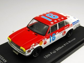1/43 ニッサン 130 セドリック ストックカー 第12回富士300km 優勝 1969 #16 田村三夫<br>