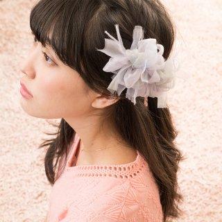 スミレ|彩る咲き編みバレッタ/ヘアクリップ
